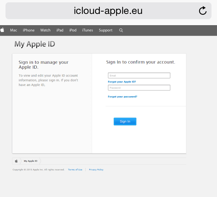 Phishing for my Apple ID and Password • iPhone Repair, Laptop Repair
