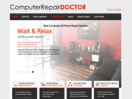 old website homepage
