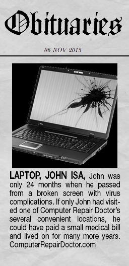 Dead Laptop Obituary