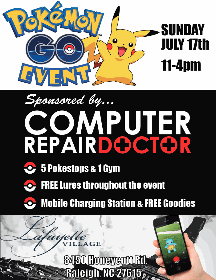 Pokemon go event raleigh nc
