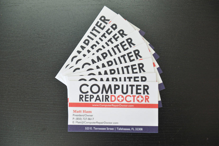 computer repair doctor business cards