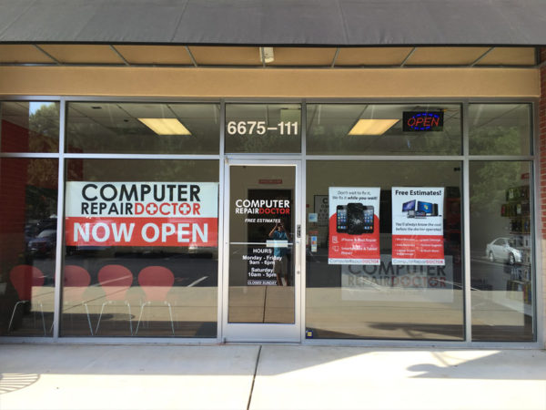 computer repair doctor raleigh storefront