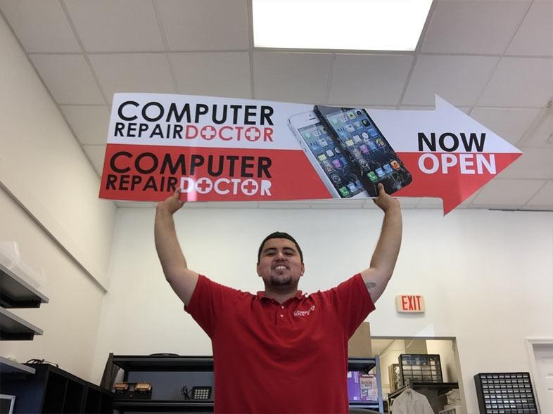 computer repair doctor sign
